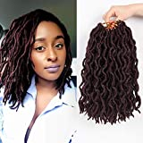 Bo Locs Crochet Hair 6 Packs 12inch Faux Locs Crochet Hair Extensions Kanekalon Dreadlock Crochet Twist Hair Curly Faux Locs Crochet Braids (20 Roots/Pack) #99J
