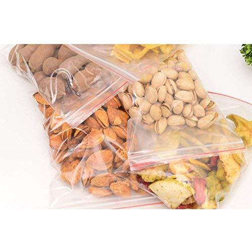 100 sacchetti per gioielli piccoli trasparenti con chiusura lampo richiudibili, sacchetti di plastica per gioielli, carta regalo, caramelle, 5 x 7 cm