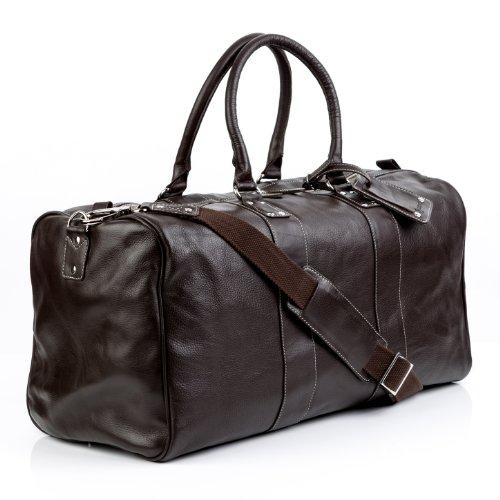 BACCINI Reisetasche Leder Toby XL groß Sporttasche Unisex Weekender echte Ledertasche...