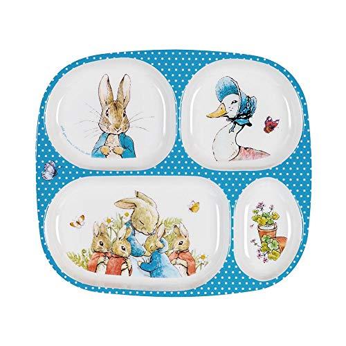 Petit Jour Paris - Bandeja de 4 compartimentos para servir Peter Rabbit