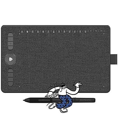 Xyfw Tableta Gráfica Digital De 12 '' para Pintar/Escribir con Lápiz De 8192 Niveles Y 13 Teclas Multimedia, Compatible con El Sistema Operativo Android