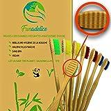 8 spazzolini da denti Gratta lingua Bambù Adulti Medium setole morbide, Igiene buccodente...