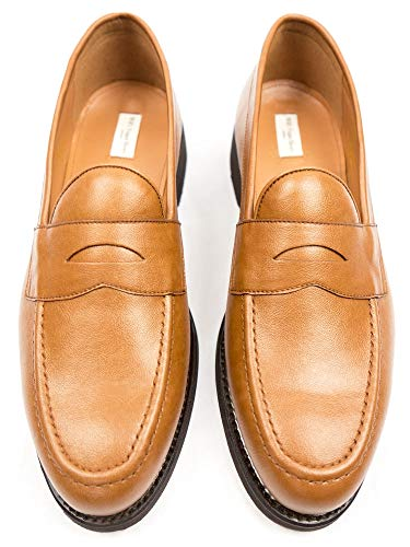 Will's Vegan Shoes Goodyear Welt Mocasines para hombre, talla 46, talla 42, color marrón