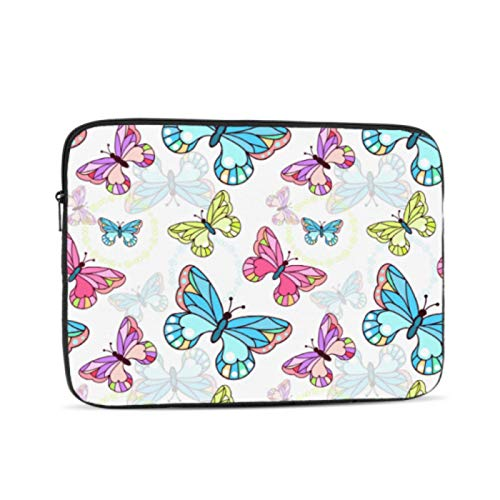 Macbook Pro 13in Case Colorful Butterfly Seamless Macbook Pro 2017 Accessories Multi-Color & Size Choices10/12/13/15/17 Inch Computer Tablet Briefcase Carrying Bag