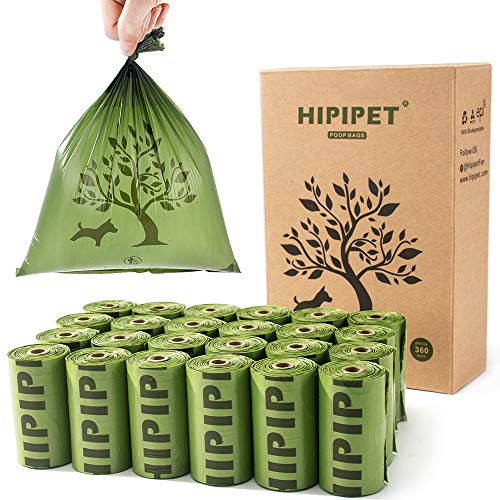 HIPIPET 360 Dog Poop Bag Degradable Waste Bags Earth-Friendly for Dogs Doggie Cats Pet,15% More...
