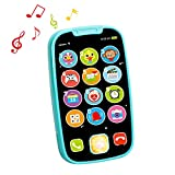 HOLA Baby Toys Phone for 1 Year Old Boy Girl My First Learning Educational Musical Baby Play Smartphone Gifts Toy for Babies Kids Toddlers Role Play Fun_Blue