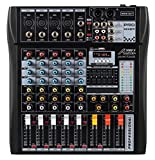 Audio2000'S AMX7342 Six-Channel Audio Mixer with USB Interface and Sound Effect