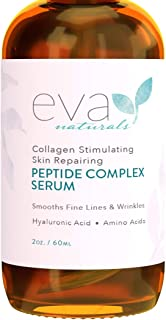Collagen Peptide Complex Serum by Eva Naturals (2 oz) - Best Anti-Aging Face Serum Reduces Wrinkles - Heals and Repairs Sk...