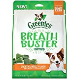 DISCONTINUED BY MANUFACTURER:GREENIES BREATH BUSTER BITES Treats for Dogs Chicken & Parsley Flavor, 11 oz. Bag