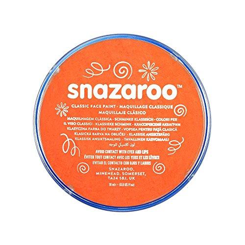 Snazaroo- Face and Body Paint, 18553, Orange