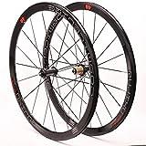 ZNND 700C Fahrrad-Laufräder, Fahrrad-Rad-Set Front 2 Hinten 4 Lagernabe Double Wall Felge 40mm Höhe C/V Brake Gedichtetes Lager 8-9-10-11 Geschwindigkeit (Color : Black Hub)