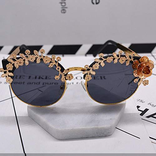 Occhiali da sole da donna Occhiali da sole di tendenza Occhiali da sole con protezione solare Estate Occhiali da sole da donna intagliati in oro rosa Occhiali da sole