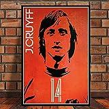 LGXINGLIyidian Robben Cruyff Beckenbauer Ronaldinho Poster Retro Soccer Star Carteles E Impresiones En Lienzo Pintura Wall Art Room Home Decor Y1145 50X70Cm