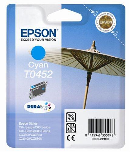 Epson T0452 Sonnenschirm, wisch- und wasserfeste Tinte (Singlepack) cyan