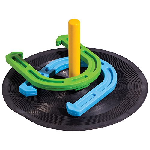 Franklin Sports Horseshoes - Soft Material - Great for Kids- Play Horseshoes on The Beach, Lawn, and More - Indoor Outdoor Use