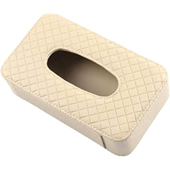 Xinlie Caja de Pañuelos de Coche Visera Caja de Pañuelos de Papel Auto Accesorios Soporte para Tejidos Facial de Kleenex Tejido Facial Tapa Caja de pañuelos 8.26 * 4.7 * 2.48 Pulgadas (Beige): Amazon.es: Hogar