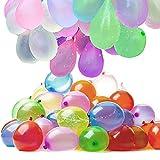 TUFEIMJ 222 Stück Wasserbomben luftballons Water balloons,Wasserbomben selbstschließend,6 Bündel mit je 37 Wasserbomben,Kein mühsames Füllen und Verknoten von Wasserballons mehr