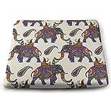 Funny Z Cojín de Asiento de Silla de Elefantes Indios Alivia la Presión de Los Músculos de Las Nalgas Almohadillas de Espuma de Elasticidad para El Hogar de la Oficina