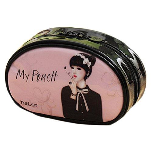 Cosmetics Pouch Wash Bag beau sac à main Dans un sac Liner Rose