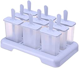 BPYSD Summer Homemade Ice Cream Ice-lolly Mold Popsicle Moulds Tray Kitchen Accessories (Color : Light purple)