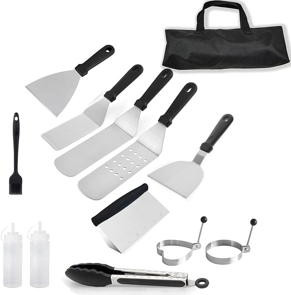 BlingGlow Griddle Accessories Ranking TOP15 Set Brand new Stainless Scrape Spatula Steel