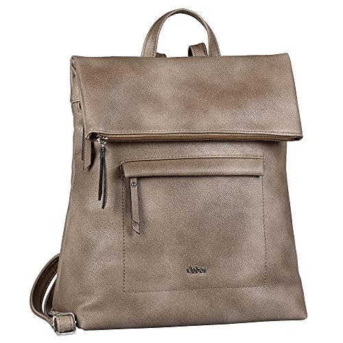 Gabor bags MINA Damen Rucksack M, taupe, 24x10x25