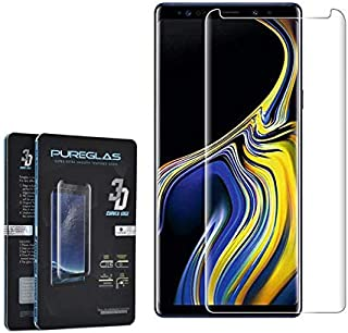 Glass Screen Protector 3D Curved Edge By Pureglas For Samsung Galaxy Note 9, Clear