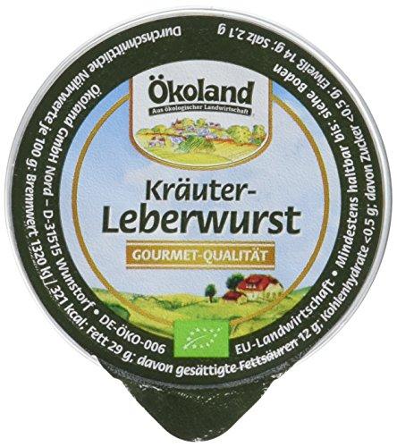 ÖKOLAND Kräuter-Leberwurst, 10er Pack (10 x 50 g)