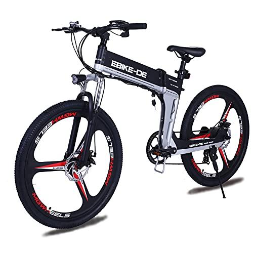 Vivi Bicicletta Elettrica Pieghevole,26'Bici Elettrica a pedalata assistita per Uomo Donna,250W Ebike Mtb Mountain Bike con Batteria Rimovibile 36V 8Ah,E-Bike City Bike per Adulti (7-Velocità)