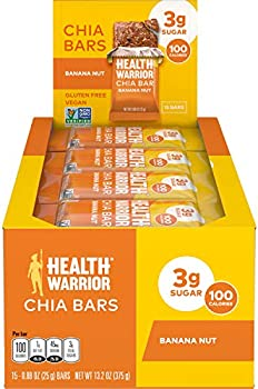 15-Pack Health Warrior Banana Nut Chia Bar
