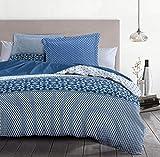 Home Linge Passion | Funda nórdica – 3 Piezas | 100% algodón – 57 Hilos | 2 Personas – 220 x 240 cm | Noche Berbere Azul