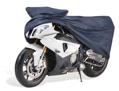 Cartrend 70113 Motorrad Größe Garage, Größe L, Nylon, blau