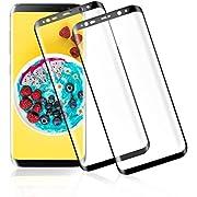 GOMAN Galaxy S8 Plus Panzerglas Schutzfolie [2 Stück], Displayschutzfolie für Samsung Galaxy S8 Plus Panzerfolie Displayschutz Gehärtetem Glass 9H Härtegrad, Anti-Kratzen, Einfaches Anbringen [6.2'']
