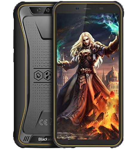 "Blackview BV5500 Pro Robustes Telefon Android 9.0 Outdoor-Smartphone Ohne Vertrag, IP68 wasserdicht 4G Dual-SIM-Handy, 5,5""HD + Quad-Core 1,5 GHz 3 GB + 16 GB 5MP+8MP, 4400 mAh Akku GPS/NFC Gelb"