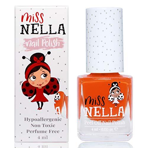 Miss Nella POPPY FIELDS- Spezieller Orange Nagellack für Kinder, Peel-Off-Formel, wasserbasiert und...