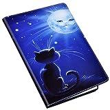 QPOLLY Compatibile con Huawei MediaPad M3 Lite 8 Cover con Disegni, Custodia Libro in Pelle PU Portafoglio Flip 360 Gradi Case Folio Porta Carte Chiusura Magnetica Supporto Protettiva Cover,Gatto-1