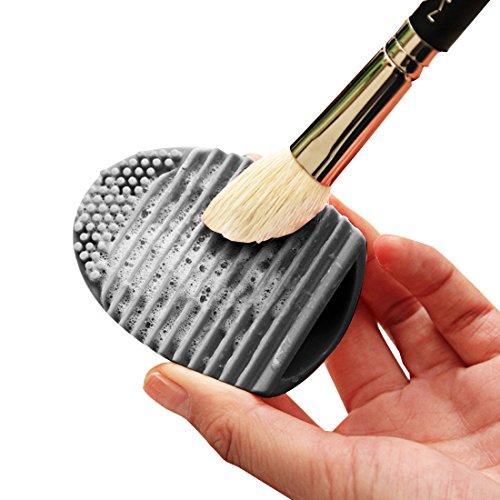 Baobao Nettoyage silicone cosmétiques Make Up Cleaner Brosse de lavage Scrubber Tool (Noir) (Couleur : Black)
