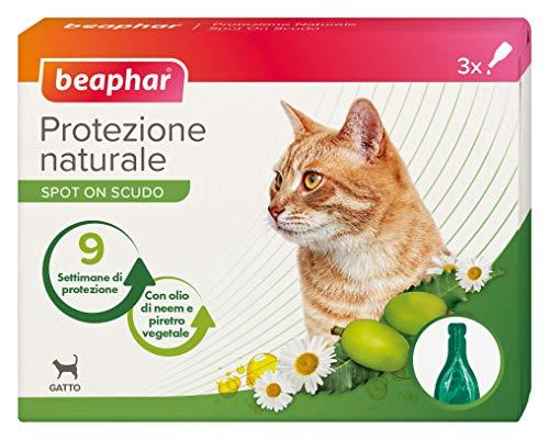 Beaphar Protezione Naturale Spot on Gatto 3 Pipette, Taglia Unica