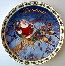 NEW 2003 Avon Christmas Plate Coming to Town Newsom Tom Santa Porcelain Annual