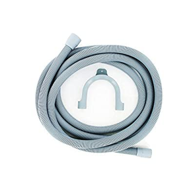 Europart Drain Outlet Hose and Hook, 4 m Length, 29 mm and 22 mm Fitting