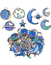Måne stjärna berlocker hängen hantverk tillbehör för smyckestillverkning av halsband