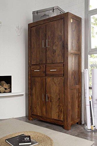 MASSIVMOEBEL24.DE Sheesham Massivholz lackiert Möbel Life Honey Schrank Palisander Massivmöbel massiv Holz Metro Life #121