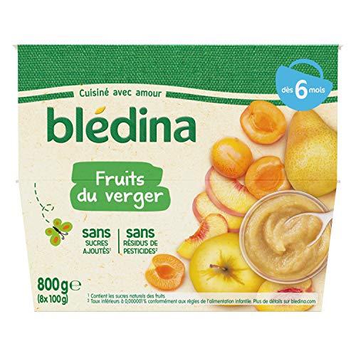 Blédina - 8 Coupelles pour bébé - Fruits du Verger - dès 6 mois