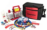 car ac tools - Kozyvacu AUTO AC Repair Complete Tool Kit with 1-Stage 3.5 CFM Vacuum Pump, Manifold Gauge Set, Hoses and its Acccessories … (KZTA35011)