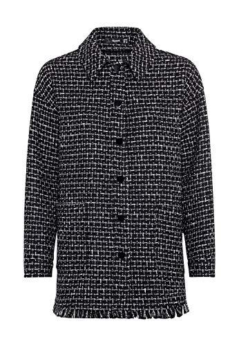 HALLHUBER Lange Bouclé-Jacke weit geschnitten schwarz, 34