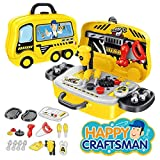 ELECTRECA Pretend Play Tool Kit for Boys & Girls, Happy Craftsman Tool Kit