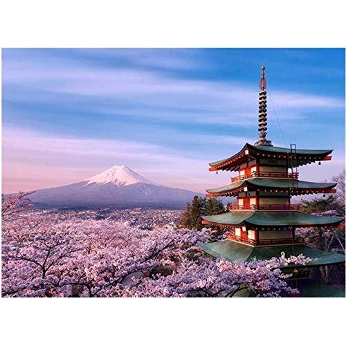 TYUIOO Rompecabezas de montaña para Adultos Japón Paisaje Puzzle 500/1000/1500/2000/3000/4000/5000 Piezas Piezas desafiantes Juguetes educativos Decoración del hogar Arte de la Pared P (T