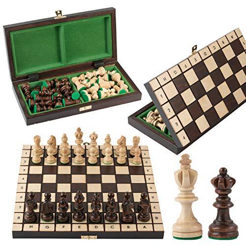 Master of Chess Olympic 30 cm / 12 'Juego de ajedrez de Madera de Torneo pequeño Piezas Hechas a Mano y Tablero de ajedrez para niños para Adultos