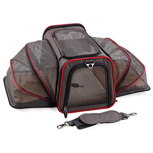Pet Falttasche, Auto-Sitz Katze-Hundewelpen tragbare Reise Cage Gepäck Grill (Size : 3-M46*28 * 28cm)