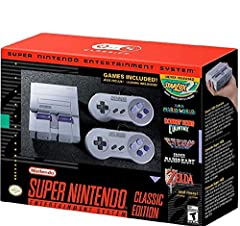 The Super NES Classic Edition system has the original look and feel of the '90s home console, only smaller. Plus, this one comes fully loaded with 21 games! Get your hands on some of the best 2-player games of the era, including Super Mario Kart and ...